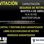 Invitación Capacitación Seguros de Retiro